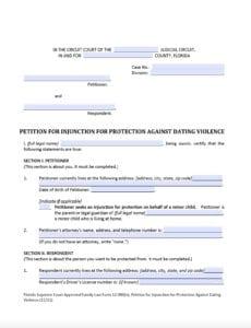 Dating Violence Form
